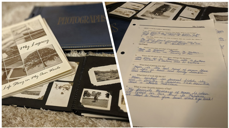 Legacy Pages from Legacy Estate Planning Binder on photo album and scrapbook for the Wrapping Up section in the Legacies that Last: Preserving Your Memories with Legacy Scrapbooks and Heirloom Albums post on the Legacy Estate Planning Blog. Image credit to Heather Agun