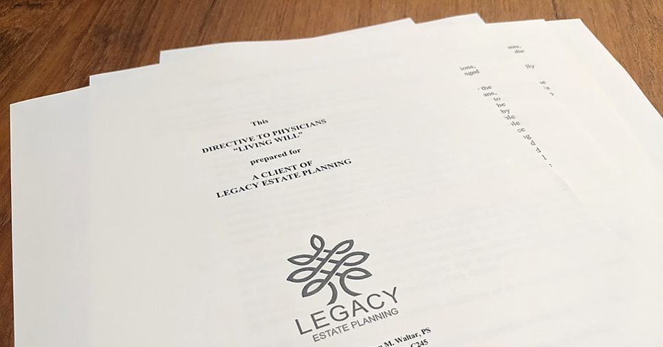 Directive to Physicians Cover Page at Legacy Estate Planning for Everything You Need to Know About Living Wills Blog Post